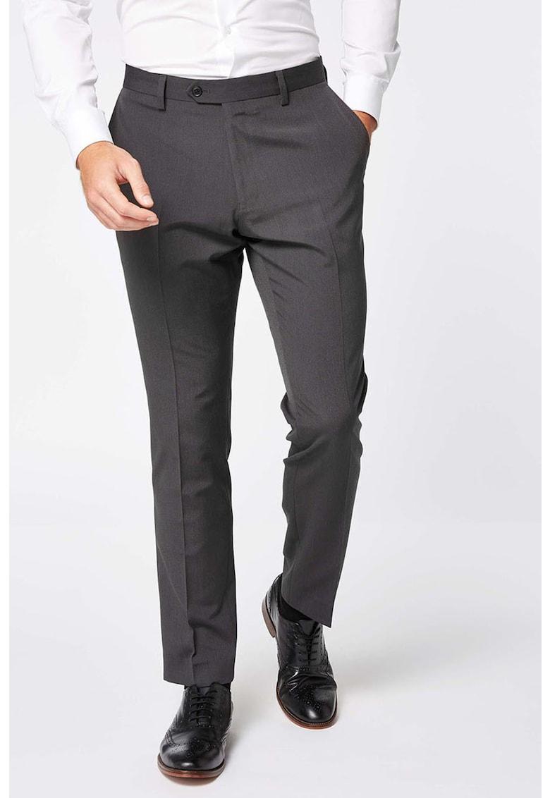 Pantaloni eleganti regular fit cu buzunare