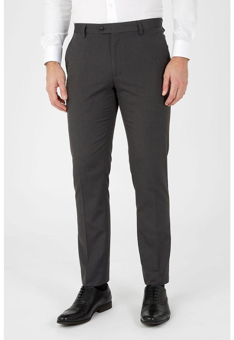 Pantaloni eleganti skinny cu pense