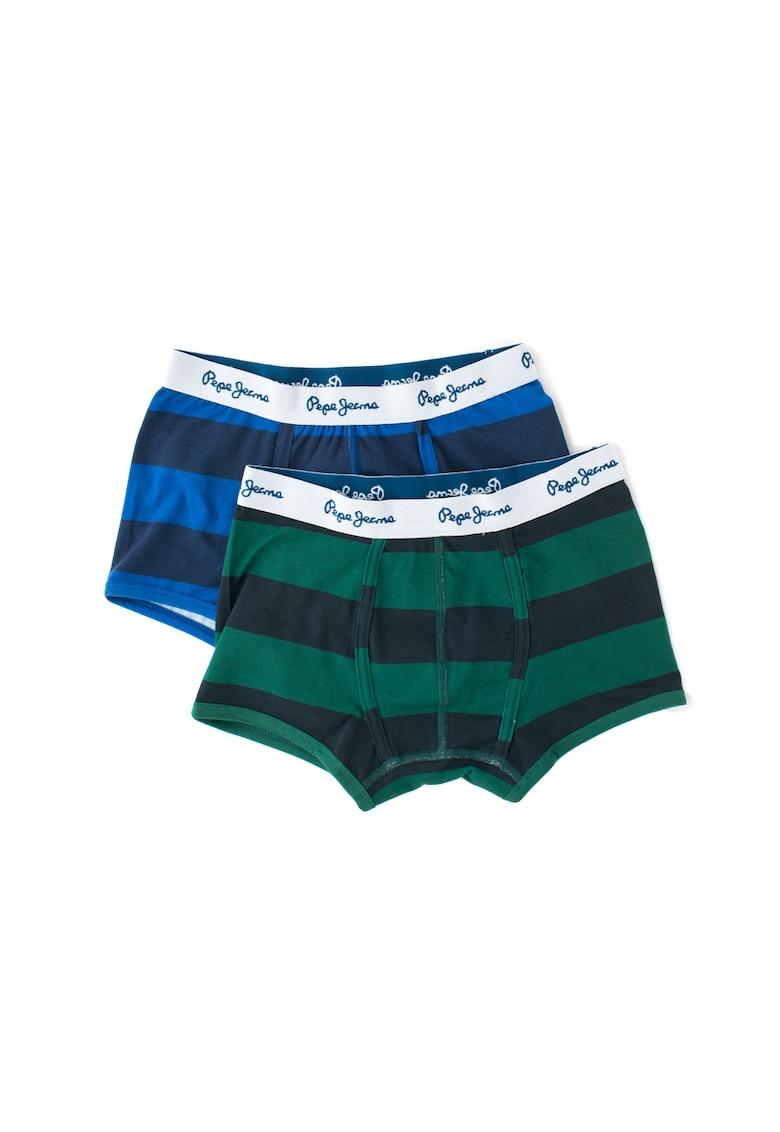 Pepe Jeans London Set de boxeri in dungi Ryan – 2 perechi