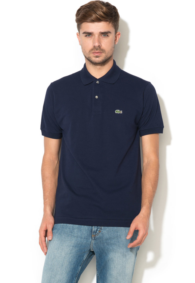 Tricou polo regular fit din material pique de la Lacoste