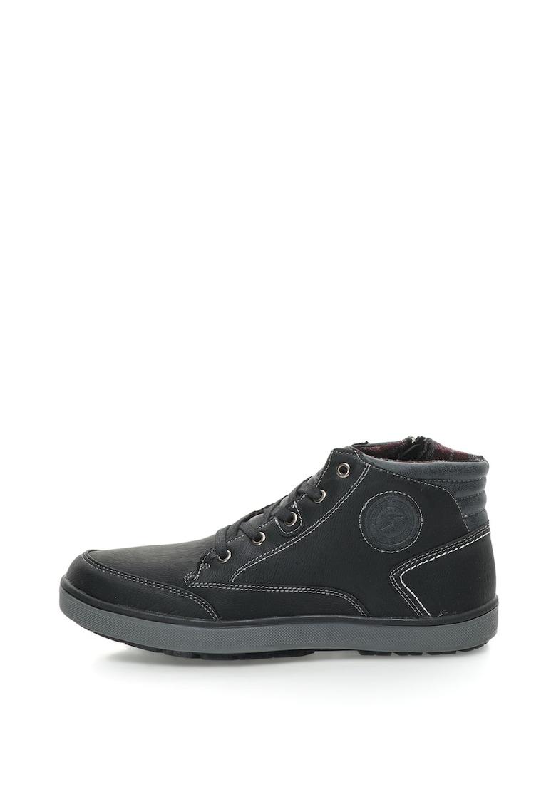 Goodyear Pantofi sport mid-high de piele sintetica cu fermoar lateral