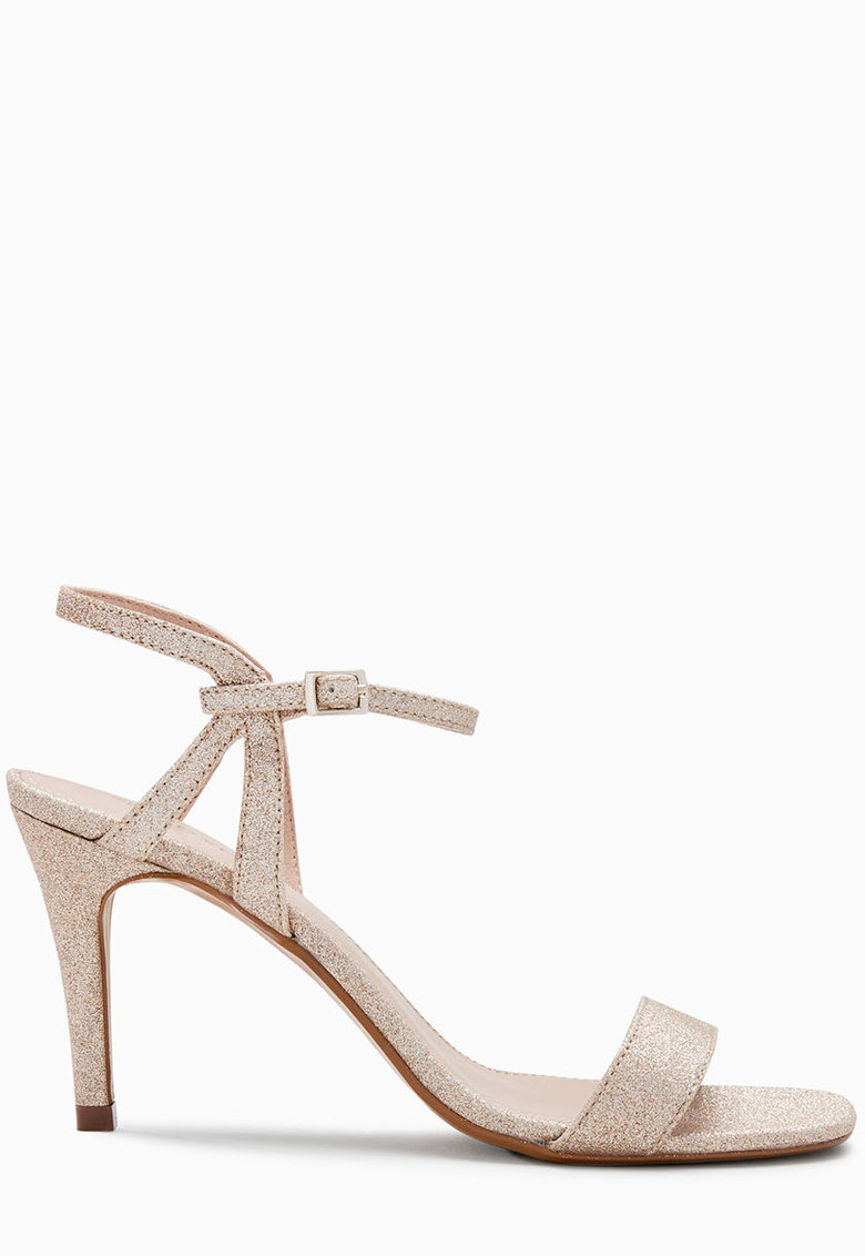 Sandale stralucioare cu calapod lat