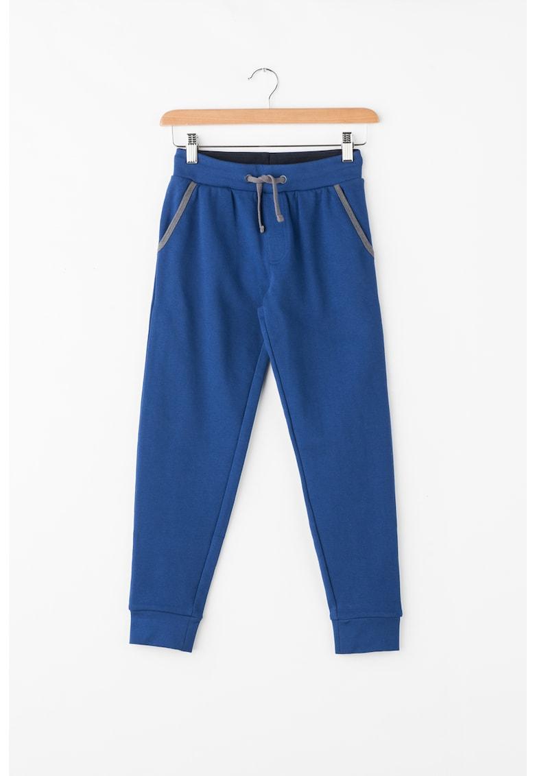 Pantaloni jogger cu garnituri contrastante thumbnail