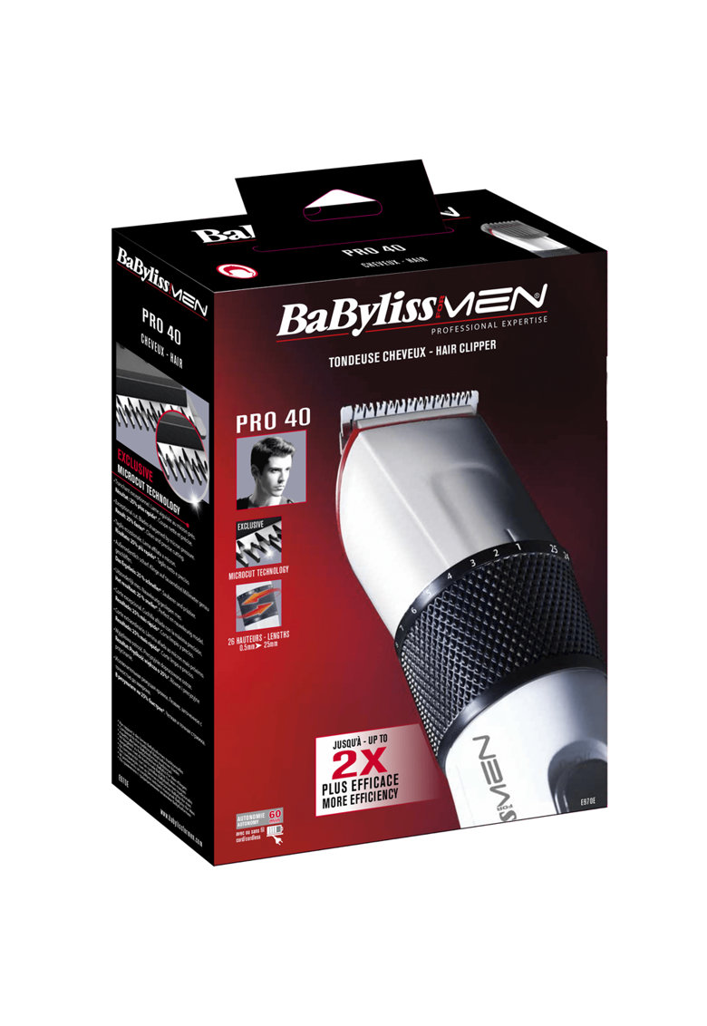 Aparat tuns   – lame 41 mm – wet&dry – 25 nivele: 0.5-25 mm – functionare cu/fara cablu – Alb de la BaByliss