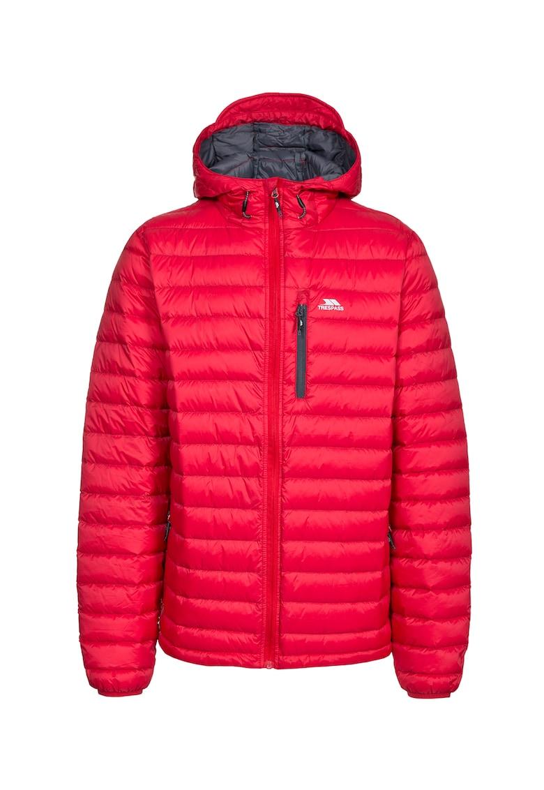 Jacheta cu puf si gluga - pentru drumetii