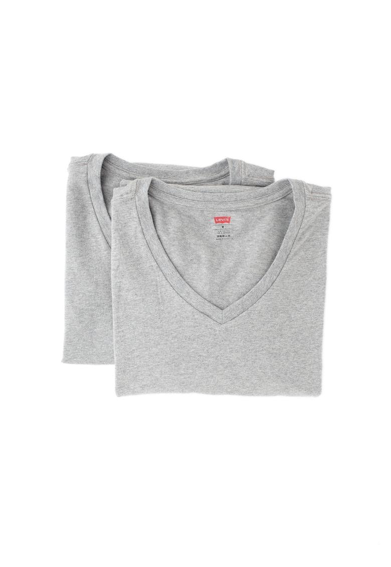 Set de tricouri de casa - cu decolteu in V - 2 piese