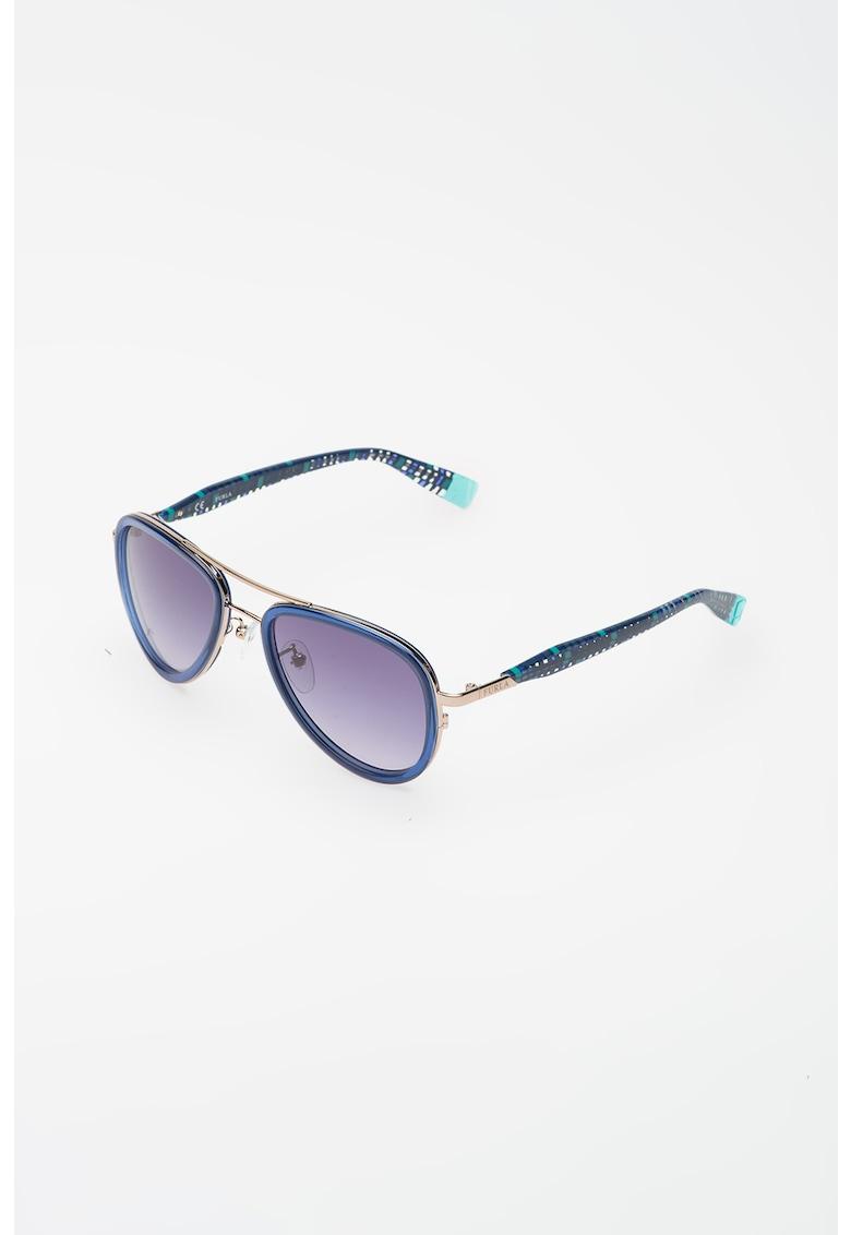 Ochelari de soare aviator cu model geometric imagine fashiondays.ro Furla
