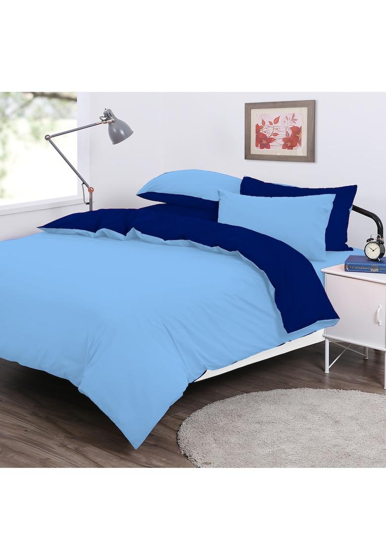 Lenjerie de pat cu doua fete  pentru 2 persoane - bumbac 100%
