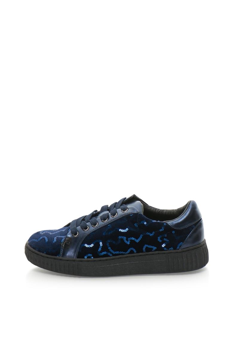 Francesco Milano Pantofi sport catifelati cu paiete