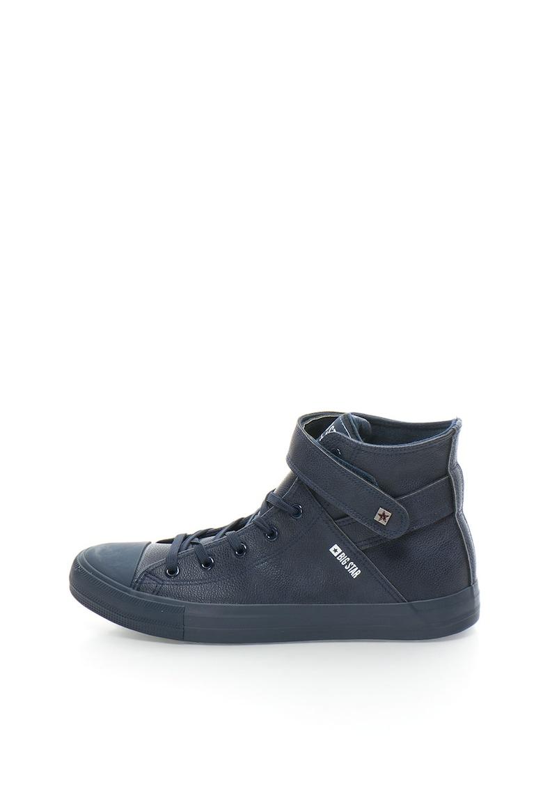 BIG STAR Pantofi sport mid-high de piele sintetica cu sireturi si velcro