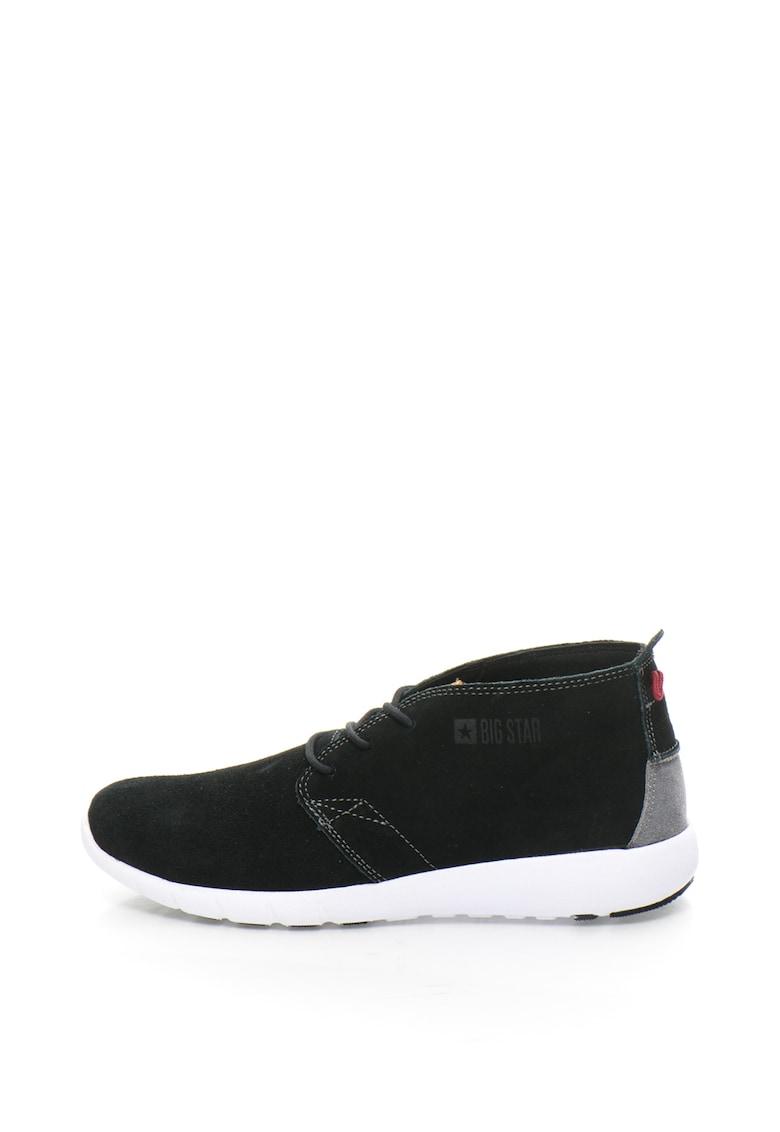 Pantofi sport chukka de piele intoarsa