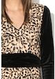 NISSA Rochie lunga decorata cu pene Femei