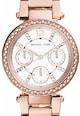 Michael Kors Ceas cronograf decorat cu cristale Mini Parker Femei