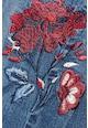NEXT Skinny fit farmernadrág hímzett virágokkal női