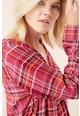 NEXT Bluza cu decolteu in V si model in carouri Femei