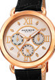 AKRIBOS XXIV Мултифункционален часовник с кожена каишка Жени
