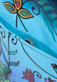 Niarvi Geanta crossbody de piele, pictata manual Femei