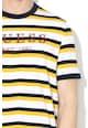 GUESS JEANS Csíkos póló hímzett logóval férfi