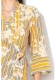 Sisley Rochie maxi din material vaporos, cu croiala petrecuta Femei