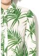 Sportmax Code Rochie cu imprimeu tropical si croiala in A Udito Femei