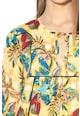 United Colors of Benetton Rochie lejera cu model tropical Femei