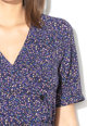 JdY Rochie cu croiala petrecuta si imprimeu floral Kris Femei