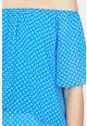 KOTON Bluza cu decolteu pe umeri si model cu buline Femei
