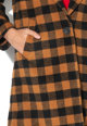 Maison Scotch Palton din amestec de lana in carouri cu revere Femei