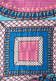 Liu Jo Шал с лого и цветен блок Жени