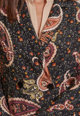 Oltre Sacou cu imprimeu paisley si doua randuri de nasturi Femei