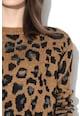 Vero Moda Pulover cu decolteu la baza gatului si animal print Leo Femei