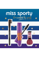Miss Sporty Set : Mascara Pump up Booster 001 black, Creion de sprancene 002 brown, Lac de unghii Lasting Colour 151 miss red Femei