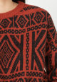 Only Geometrikus mintájú gyapjútartalmú pulóver női