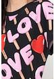 Love Moschino Bő fazonú póló logós mintával női