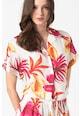 Guess Pantaloni scurti de plaja, din modal, cu imprimeu tropical Femei