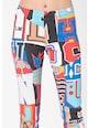 Love Moschino Pantaloni sport slim fit cu imprimeu Femei