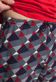 Sofiaman Pijama din jerseu cu model geometric Gilbert Barbati