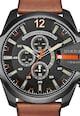 Diesel Кафяв часовник с хронограф Мъже