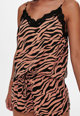 Only Pijama scurta vaporoasa cu imprimeu zebra Femei