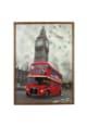 Heinner Home Tablou cu ceas  inramat, 50x70 cm, London Femei