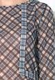 Pepe Jeans London Полупрозрачна блуза в сиво и синьо Жени