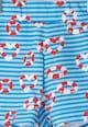 Agatha Ruiz de la Prada Pantaloni scurti albastru si alb cu imprimeu marin Fete