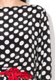Diesel Bluza negru cu alb cu buline Bow Femei