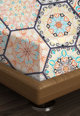 Leunelle Цветен чаршаф с ластичен подгъв на шарки 160X200 Жени