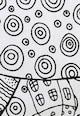 Leunelle Бял чаршаф с ластичен подгъв на шарки Жени