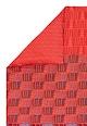 Kenzo Maison Cearsaf de pilota rosu si albastru cu imprimeu text Love Femei