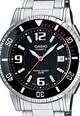 Casio Часовник в черно и сребристо Мъже