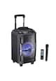 AKAI Boxa portabila  , 40W, microfon wireless, Bluetooth, radio FM, karaoke, USB, lumini disco Femei