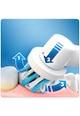 Oral-B Periuta de dinti electrica  Smart 4 4000 Series Cross Action, 40000 pulsatii/min, 8800 oscilatii/min, Curatare 3D, 3 programe, 2 capete, Bluetooth, Alb Femei